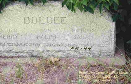 BOEGEL, HENRY - Douglas County, Colorado | HENRY BOEGEL - Colorado Gravestone Photos