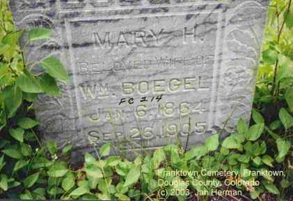 BOEGEL, MARY H. - Douglas County, Colorado | MARY H. BOEGEL - Colorado Gravestone Photos