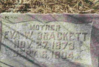 BRACKETT, EVA W. - Douglas County, Colorado | EVA W. BRACKETT - Colorado Gravestone Photos