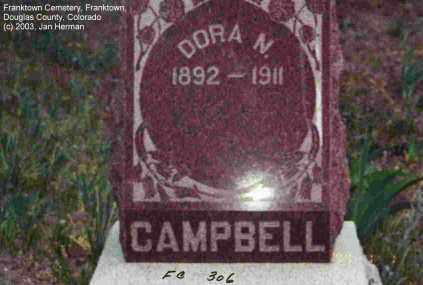 CAMPBELL, DORA N. - Douglas County, Colorado | DORA N. CAMPBELL - Colorado Gravestone Photos
