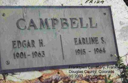 CAMPBELL, EARLINE S. - Douglas County, Colorado   EARLINE S. CAMPBELL - Colorado Gravestone Photos