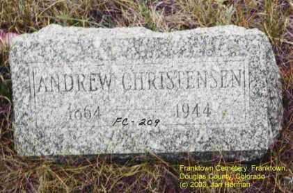 CHRISTENSEN, ANDREW - Douglas County, Colorado   ANDREW CHRISTENSEN - Colorado Gravestone Photos