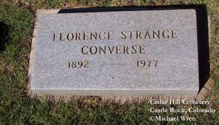 CONVERSE, FLORENCE - Douglas County, Colorado | FLORENCE CONVERSE - Colorado Gravestone Photos