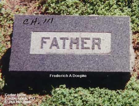 DOEPKE, FREDERICH A. - Douglas County, Colorado   FREDERICH A. DOEPKE - Colorado Gravestone Photos