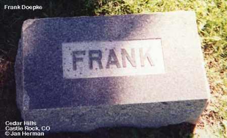 DOEPKE, FRANK - Douglas County, Colorado   FRANK DOEPKE - Colorado Gravestone Photos