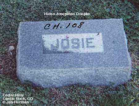 DOEPKE, HELEN JOSEPHINE - Douglas County, Colorado | HELEN JOSEPHINE DOEPKE - Colorado Gravestone Photos