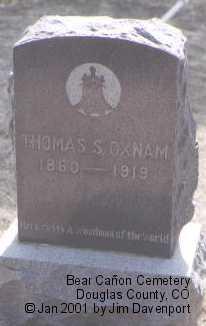 OXNAM, THOMAS S. - Douglas County, Colorado | THOMAS S. OXNAM - Colorado Gravestone Photos