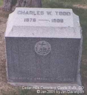 TODD, CHARLES W. - Douglas County, Colorado   CHARLES W. TODD - Colorado Gravestone Photos