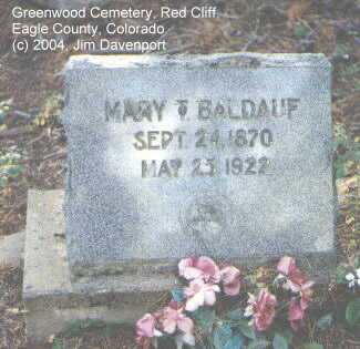 BALDAUF, MARY T. - Eagle County, Colorado | MARY T. BALDAUF - Colorado Gravestone Photos