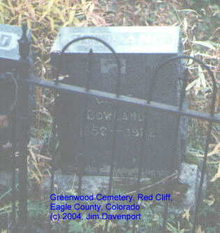 BOWLAND, GEO. E. - Eagle County, Colorado | GEO. E. BOWLAND - Colorado Gravestone Photos