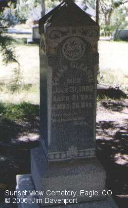 GLEASON, FRANK - Eagle County, Colorado | FRANK GLEASON - Colorado Gravestone Photos