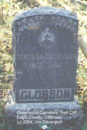 GLOSSON, TERESSA O. - Eagle County, Colorado | TERESSA O. GLOSSON - Colorado Gravestone Photos