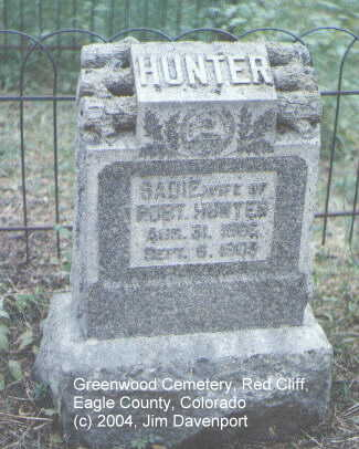 HUNTER, SADIE - Eagle County, Colorado | SADIE HUNTER - Colorado Gravestone Photos