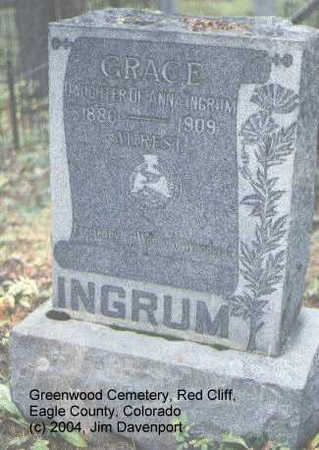 INGRUM, GRACE - Eagle County, Colorado | GRACE INGRUM - Colorado Gravestone Photos