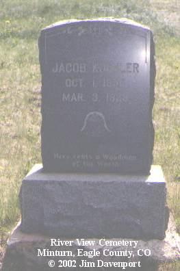 KOEHLER, JACOB - Eagle County, Colorado   JACOB KOEHLER - Colorado Gravestone Photos