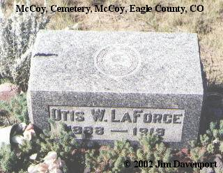 LAFORCE, OTIS W. - Eagle County, Colorado | OTIS W. LAFORCE - Colorado Gravestone Photos