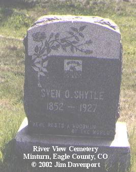 SHYTLE, SVEN O. - Eagle County, Colorado | SVEN O. SHYTLE - Colorado Gravestone Photos