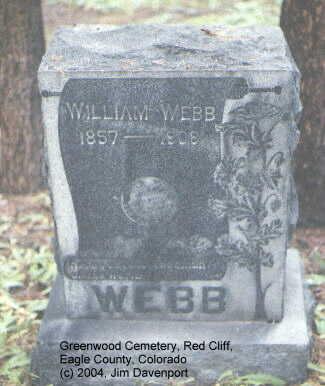 WEBB, WILLIAM - Eagle County, Colorado | WILLIAM WEBB - Colorado Gravestone Photos