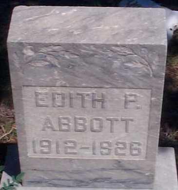 ABBOTT, EDITH P. - Elbert County, Colorado | EDITH P. ABBOTT - Colorado Gravestone Photos