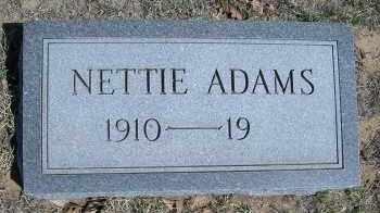 ADAMS, NETTIE - Elbert County, Colorado   NETTIE ADAMS - Colorado Gravestone Photos