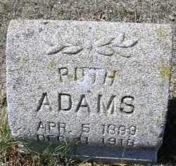ADAMS, RUTH - Elbert County, Colorado | RUTH ADAMS - Colorado Gravestone Photos