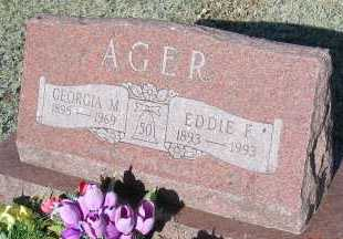 AGER, EDDIE F. - Elbert County, Colorado | EDDIE F. AGER - Colorado Gravestone Photos