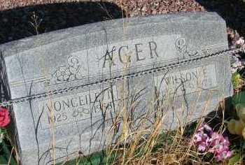 AGER, VONCEILE I. - Elbert County, Colorado | VONCEILE I. AGER - Colorado Gravestone Photos