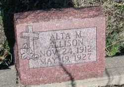 ALLISON, ALTA M. - Elbert County, Colorado | ALTA M. ALLISON - Colorado Gravestone Photos