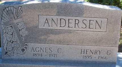 ANDERSEN, AGNES C. - Elbert County, Colorado | AGNES C. ANDERSEN - Colorado Gravestone Photos