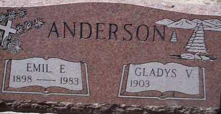 ANDERSON, GLADYS V. - Elbert County, Colorado | GLADYS V. ANDERSON - Colorado Gravestone Photos