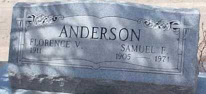 ANDERSON, SAMUEL F. - Elbert County, Colorado | SAMUEL F. ANDERSON - Colorado Gravestone Photos