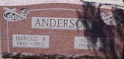 ANDERSON, ALICE V. - Elbert County, Colorado | ALICE V. ANDERSON - Colorado Gravestone Photos