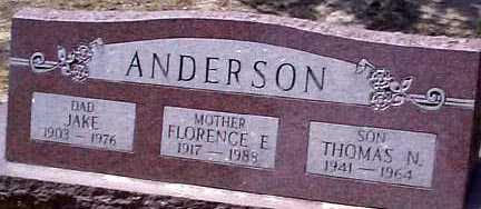 ANDERSON, FLORENCE E. - Elbert County, Colorado | FLORENCE E. ANDERSON - Colorado Gravestone Photos