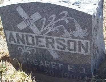 ANDERSON, MARGARET E. D. - Elbert County, Colorado | MARGARET E. D. ANDERSON - Colorado Gravestone Photos