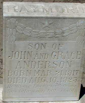 ANDERSON, RAYMOND - Elbert County, Colorado   RAYMOND ANDERSON - Colorado Gravestone Photos