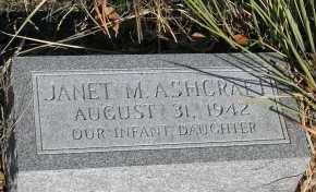 ASHCRAFT, JANET M. - Elbert County, Colorado | JANET M. ASHCRAFT - Colorado Gravestone Photos