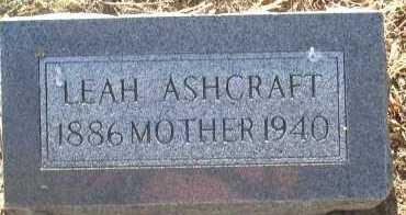 ASHCRAFT, LEAH - Elbert County, Colorado   LEAH ASHCRAFT - Colorado Gravestone Photos