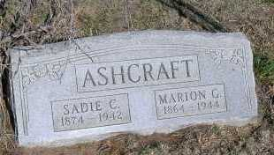 ASHCRAFT, MARION G. - Elbert County, Colorado | MARION G. ASHCRAFT - Colorado Gravestone Photos