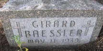 BAESSLER, GIRARD - Elbert County, Colorado | GIRARD BAESSLER - Colorado Gravestone Photos