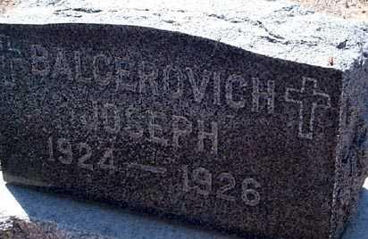 BALCEROVICH, JOSEPH - Elbert County, Colorado | JOSEPH BALCEROVICH - Colorado Gravestone Photos