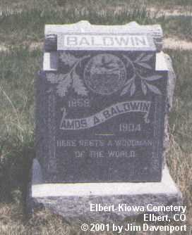 BALDWIN, AMOS A. - Elbert County, Colorado | AMOS A. BALDWIN - Colorado Gravestone Photos