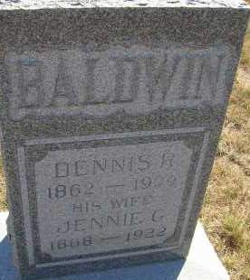 BALDWIN, JENNIE G. - Elbert County, Colorado | JENNIE G. BALDWIN - Colorado Gravestone Photos