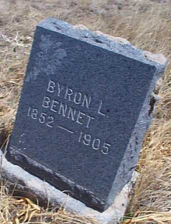 BENNET, BYRON L. - Elbert County, Colorado | BYRON L. BENNET - Colorado Gravestone Photos