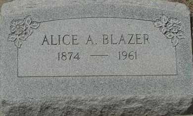 BLAZER, ALICE A. - Elbert County, Colorado | ALICE A. BLAZER - Colorado Gravestone Photos