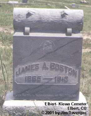 BOSTON, JAMES A. - Elbert County, Colorado   JAMES A. BOSTON - Colorado Gravestone Photos