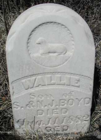 BOYD, WALLIE - Elbert County, Colorado | WALLIE BOYD - Colorado Gravestone Photos