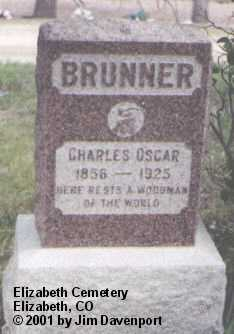 BRUNNER, CHARLES OSCAR - Elbert County, Colorado | CHARLES OSCAR BRUNNER - Colorado Gravestone Photos