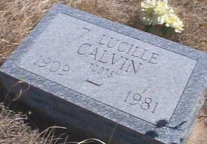 CALVIN, T. LUCILLE - Elbert County, Colorado   T. LUCILLE CALVIN - Colorado Gravestone Photos