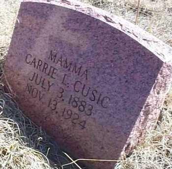 CUSIC, CARRIE L. - Elbert County, Colorado | CARRIE L. CUSIC - Colorado Gravestone Photos