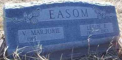 EASOM, V. MARJORIE - Elbert County, Colorado | V. MARJORIE EASOM - Colorado Gravestone Photos